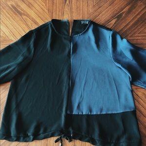 TOPSHOP color block blouse